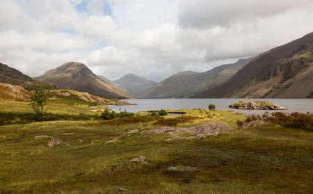 cumbria: Wastwater or Wast Water in English Lake District on cloudy day Stock Photo