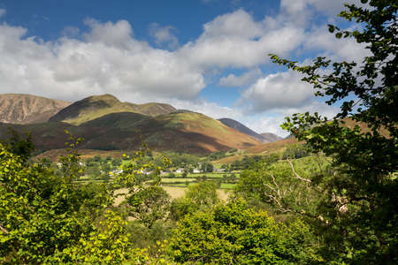 View towards Buttermere village in English Lake District photo