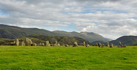 lake district: Castlerigg prehistoric stone circle near Keswick in Lake District