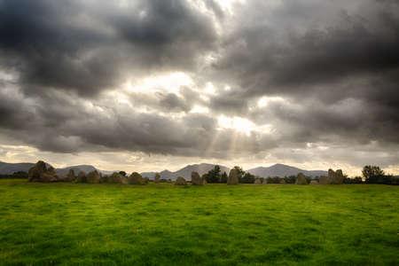 countryside landscape: Castlerigg prehistoric stone circle near Keswick in Lake District