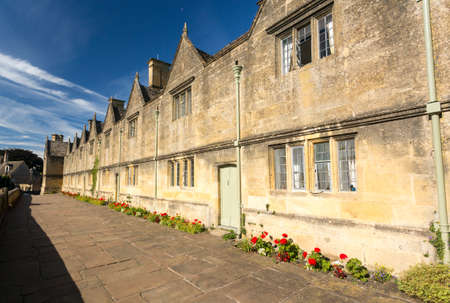 almshouse: Lovely old cotswold stone almshouses in Chipping Campden in Cotswolds England