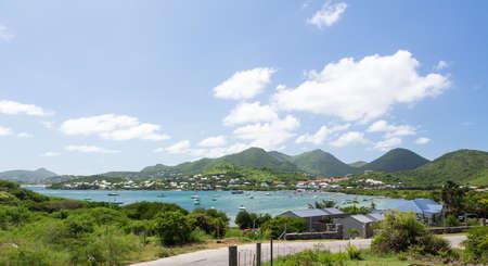 cul de sac: Bay of Cul de Sac on french side of St Martin in Caribbean