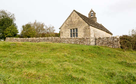 oswald: Parish Church of St Oswald in deserted hamlet of Widford in Oxfordshire in Windrush Valley Stock Photo