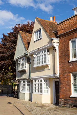 kent: Old tudor and elizabethan homes in Faversham in Kent in England Stock Photo
