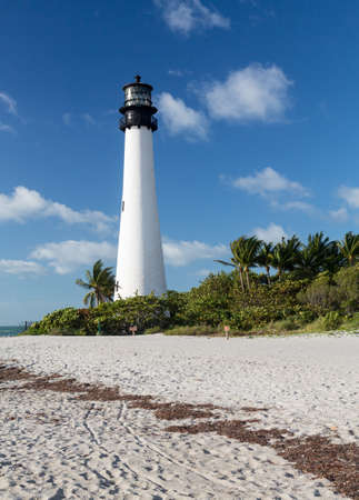 Cape Florida Lighthouse and Lantern in Bill Baggs State Park in Key Biscayne Florida Stock Photo - 16999300