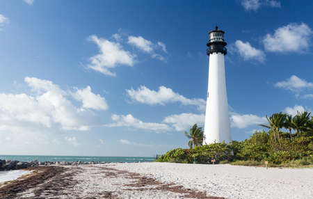 Cape Florida Lighthouse and Lantern in Bill Baggs State Park in Key Biscayne Florida Stock Photo - 16999389