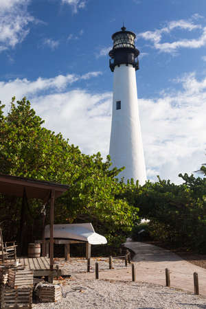 Cape Florida Lighthouse and Lantern in Bill Baggs State Park in Key Biscayne Florida Stock Photo - 16999211
