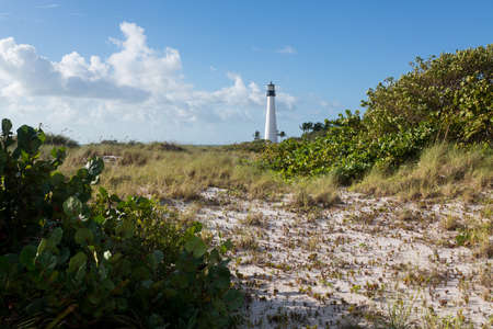 Cape Florida Lighthouse and Lantern in Bill Baggs State Park in Key Biscayne Florida Stock Photo - 16999250