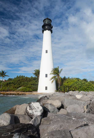 bill baggs: Cape Florida Lighthouse and Lantern in Bill Baggs State Park in Key Biscayne Florida