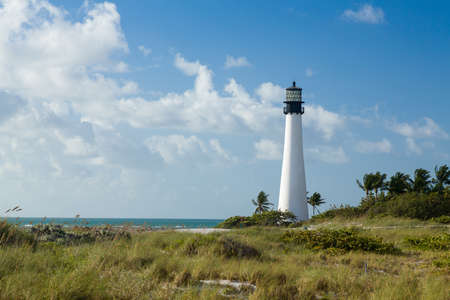 Cape Florida Lighthouse and Lantern in Bill Baggs State Park in Key Biscayne Florida Stock Photo - 16999545