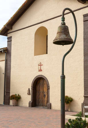 Mission Santa Ines in California exterior on sunny day with clouds Stock Photo - 17172389