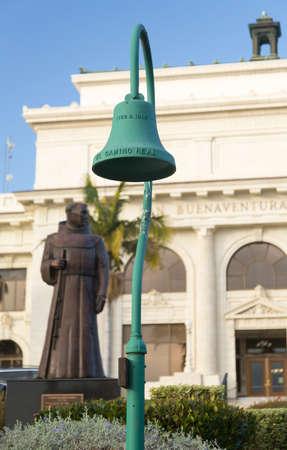 Father Junipero Serra statue in front of Ventura or San Buenaventura city hall in California Stock Photo - 17931206