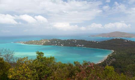 magen: Broad panorama of Magen or Magens Bay on St Thomas US Virgin Islands USVI