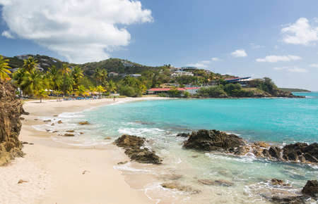 Beach scene on island of St Thomas in US Virgin Islands USVI photo