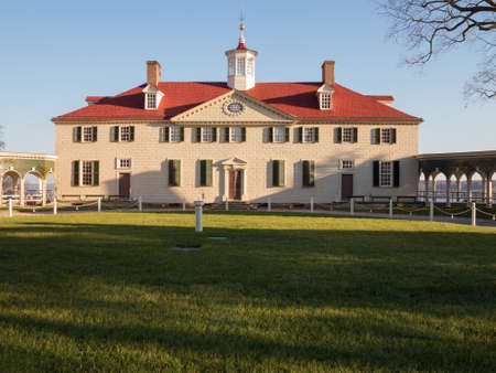 President George Washington home at Mount Vernon in Virginia