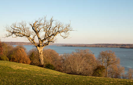martha: President George Washington home at Mount Vernon in Virginia wtih view of Potomac from house Editorial