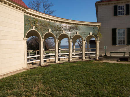 entranceway: President George Washington home at Mount Vernon in Virginia