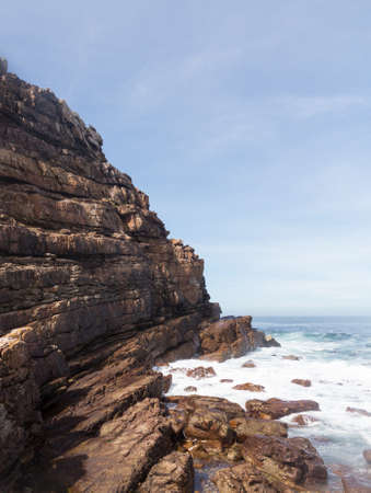 southernmost: Rocky shoreline at Cape of Good Hope South Africa