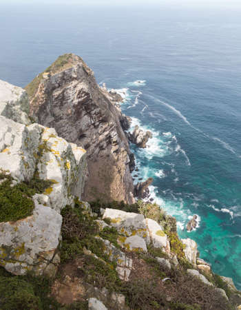 cape of good hope: Rocky shoreline at Cape Point South Africa