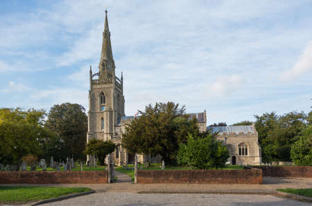 bury: Old Church of England church in village of Woolpit near Bury St Edmunds in Suffolk England Stock Photo