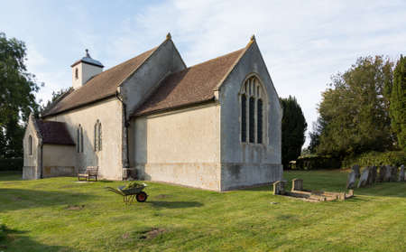 british weather: Old Church of England church in village of Shelland near Bury St Edmunds in Suffolk England