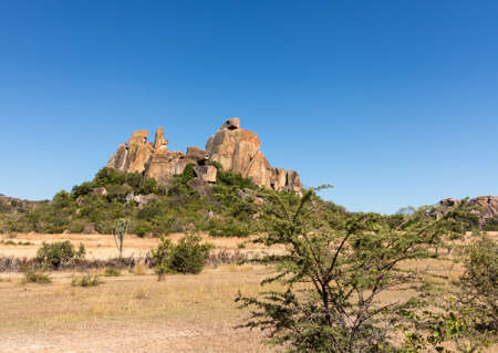 Granite rock formations in Matobo National park near Bulawao Zimbabwe Imagens - 23206179