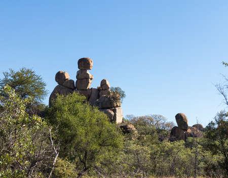 zimbabwe: Formaciones rocosas de granito en el Parque Nacional de Matobo cerca Bulawao Zimbabwe Foto de archivo