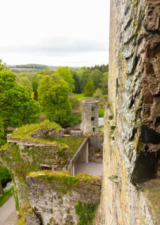 Blarney Castle or Caislean na Blarnan is a famous old Irish castle renowned for the Blarney stone that many people come to kiss. It is near Cork in Ireland or Eire