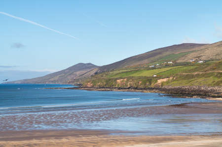 eire: View along the coastline of the western point of County Kerry near Dingle in Ireland or Eire Stock Photo