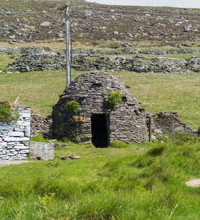 prevalent: Stone is used in the construction of Irish huts, but the type most prevalent on the Dingle Peninsula is the corbelled, drystone hut usually referred to as a clochaun or Clochan