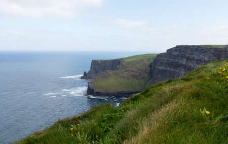 Cliffs of Moher in South Western Ireland in Burren Region of County Clare photo