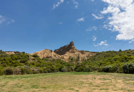 allied: Rock formations at Anzac Cove in Gallipoli where allied troops fought in World War 1