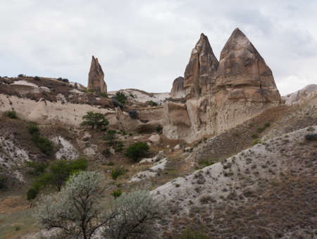rock formations: Cappadocia lies in eastern Anatolia, in the center of what is now Turkey. The relief consists of a high plateau over 1000 m in altitude that is pierced by volcanic peaks and fairy chimneys. Hot air balloon tours fill the air with their canopies