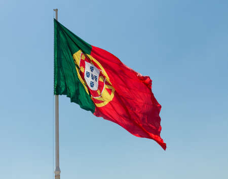 unevenly: The Flag of Portugal or Bandeira de Portugal is the national flag of the Portuguese Republic. It is a rectangular bicolour with a field unevenly divided into green on the hoist, and red on the fly.