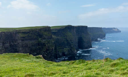 moher: Cliffs of Moher in South Western Ireland in Burren Region of County Clare