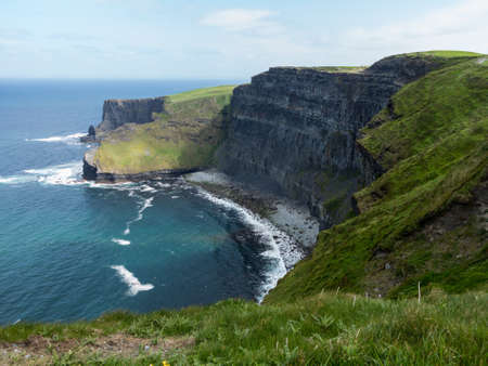 west coast: Cliffs of Moher in South Western Ireland in Burren Region of County Clare