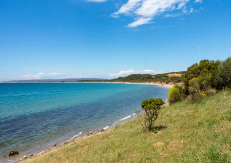 allied: Coastline and beach at Anzac Cove in Gallipoli where allied troops fought in World War 1