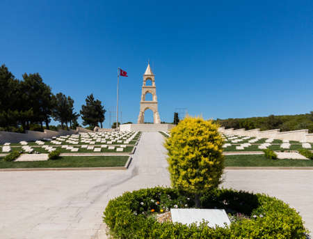 military cemetery: Memorials to all the fallen soldiers and sailors from Allied forces that fought in Gallipoli campaign in First World War