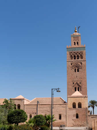 loc: The Koutoubia Mosque or Kutubiyya Mosque is the largest mosque in Marrakech, Morocco. The mosque is also known by several other names, such as Jami al-Kutubiyah, Kotoubia Mosque, Kutubiya Mosque, Kutubiyyin Mosque, and Mosque of the Booksellers. It is loc