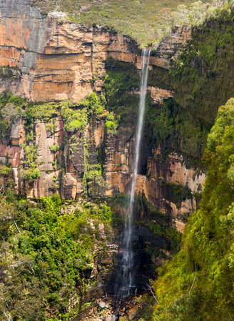 Govetts Leap Waterfall near Blackheath overlooking the majestic Blue Mountains NSW Australia photo