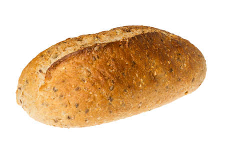 wholemeal: Whole wheat or multi grain brown bread fresh from oven bakery and isolated