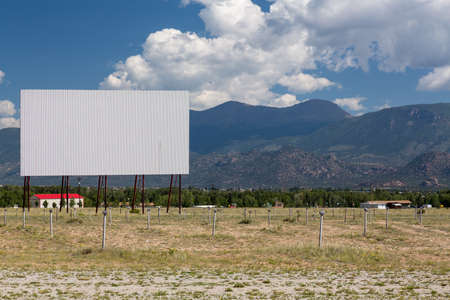 Traditional american drive in cinema or theater in Buena Vista Colorado that still shows movies several nights a week photo