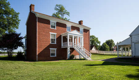 ulysses s  grant: Rear view of McLean House where Ulysses S Grant accepted surrender of Southern Army under General Robert E Lee in Appomattox, Virginia, USA