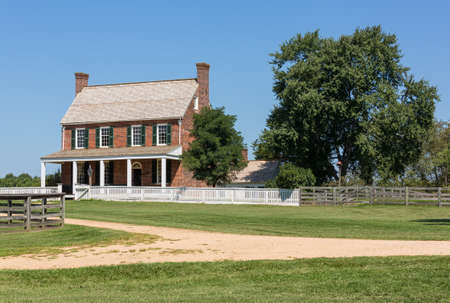 ulysses s  grant: Clover Hill Tavern at Appomattox. Site of the surrender of Southern Army under General Robert E Lee to Ulysses S Grant April 9, 1865 Editorial