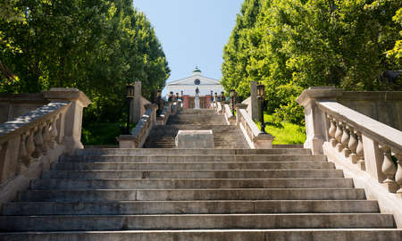 world war: Monument Terrace designed in 1925 as series of steps and memorials up to Courthouse in Lynchburg Virginia