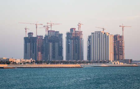 Reclaimed: Construction of new apartment buildings near the Royal Palace in Budaiya, Bahrain