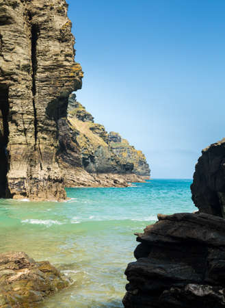 cornwall: Cliffs and headlands jutting into the sea, Cornwall, England, UK