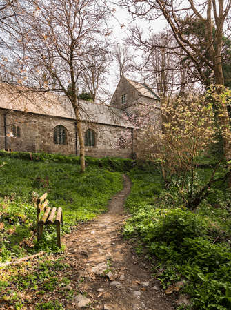 minster: Ancient norman parish church in woodland in Minster, Boscastle, Cornwall, England, UK Stock Photo