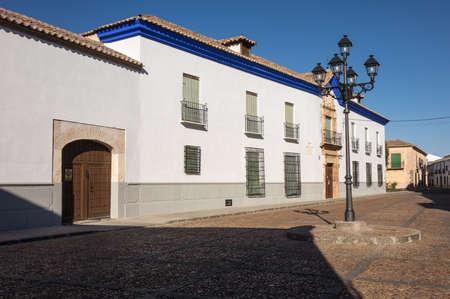 almagro: Plaza de Santo Domingo in Almagro in Castilla-La Mancha, Spain, Europe Stock Photo