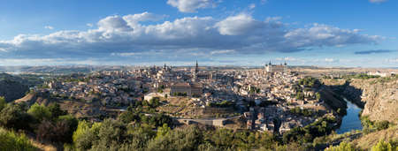 stitched: High resolution stitched panorama of ancient city of Toledo, Spain, Europe